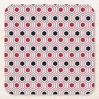 Porta-copo De Papel Quadrado Mel preto vermelho