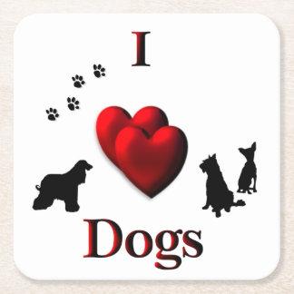 Porta-copo De Papel Quadrado Mim cães do coração