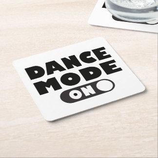Porta-copo De Papel Quadrado Modo da dança sobre, dançarino, festa de casamento