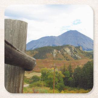 Porta-copo De Papel Quadrado Montanha