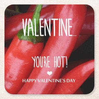 Porta-copo De Papel Quadrado Namorados, você está quente!