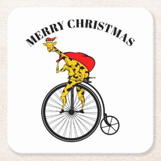 Porta-copo De Papel Quadrado Natal de Papai Noel do girafa