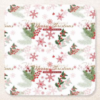 Porta-copo De Papel Quadrado Natal elegante