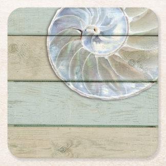Porta-copo De Papel Quadrado Nautilus Shell