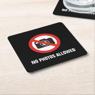 Porta-copo De Papel Quadrado Nenhumas fotos permitidas