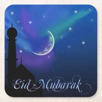 Porta-copo De Papel Quadrado Noite mágica de Eid - porta copos islâmica do