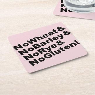 Porta-copo De Papel Quadrado NoWheat&NoBarley&NoRye&NoGluten! (preto)