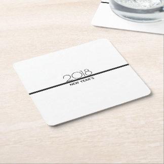 Porta-copo De Papel Quadrado O ano novo minimalista da porta copos de papel da