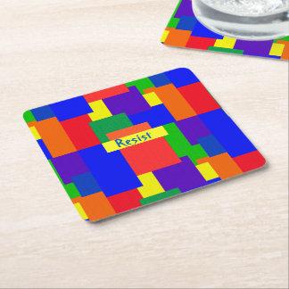 Porta-copo De Papel Quadrado O arco-íris resiste portas copos do design da