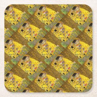 Porta-copo De Papel Quadrado O beijo dos amantes após Klimt