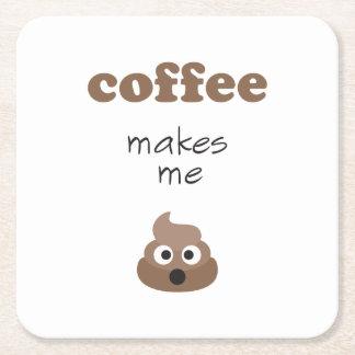 Porta-copo De Papel Quadrado O café engraçado faz-me a frase do emoji do