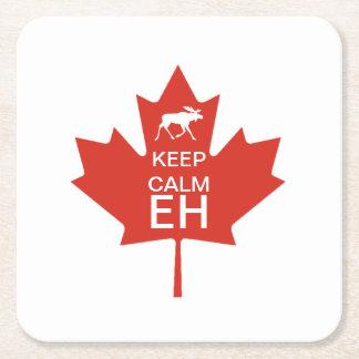 Porta-copo De Papel Quadrado O dia de Canadá MANTEM o EH CALMO