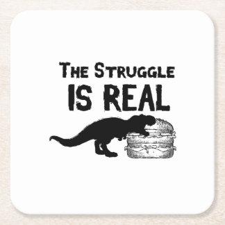 Porta-copo De Papel Quadrado o dinossauro T Rex o Struggl é Hamburger real