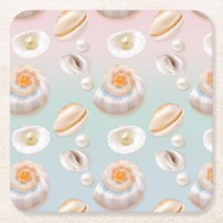Porta-copo De Papel Quadrado O mar Shell do SeaShell da luz Aloha peroliza o