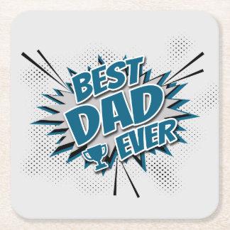 Porta-copo De Papel Quadrado O melhor pai nunca