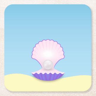 Porta-copo De Papel Quadrado O Seashell