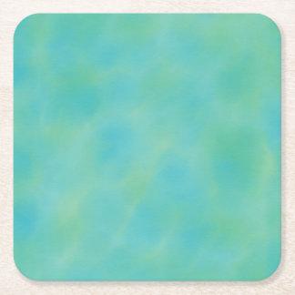 Porta-copo De Papel Quadrado O verde azul protege a porta copos