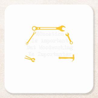 Porta-copo De Papel Quadrado O Woodworking é presente do Woodworker de