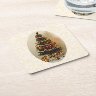 Porta-copo De Papel Quadrado Oh, porta copos do papel da árvore de Natal