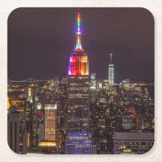 Porta-copo De Papel Quadrado Orgulho do Empire State Building