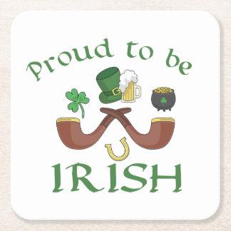 Porta-copo De Papel Quadrado Orgulhoso ser tubulações irlandesas e chapéu verde