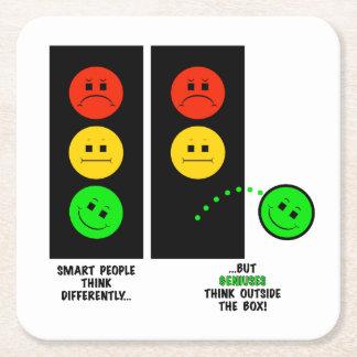 Porta-copo De Papel Quadrado Os gênios temperamentais do sinal de trânsito