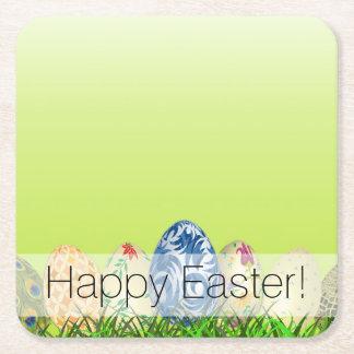 Porta-copo De Papel Quadrado Ovos da páscoa modelados bonito no verde do