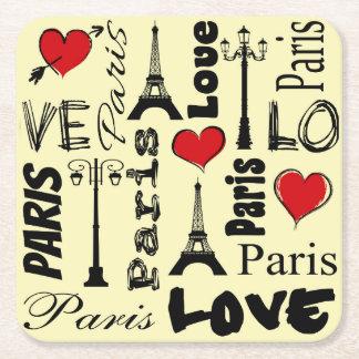 Porta-copo De Papel Quadrado Paris
