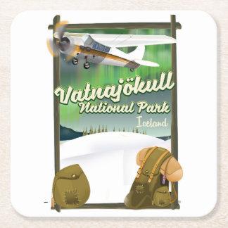 Porta-copo De Papel Quadrado Parque nacional Islândia de Vatnajökull
