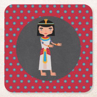 Porta-copo De Papel Quadrado Partido de aniversário de criança egípcio da dança