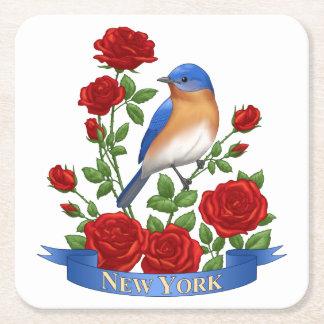 Porta-copo De Papel Quadrado Pássaro e flor de Estados de Nova Iorque