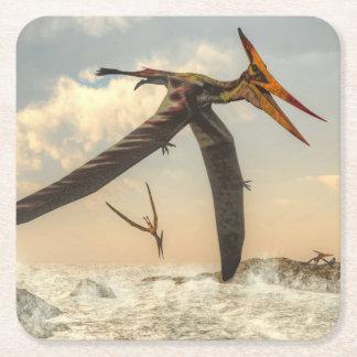 Porta-copo De Papel Quadrado Pássaros de Pteranodon - 3D rendem