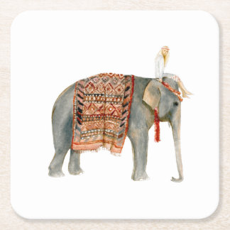 Porta-copo De Papel Quadrado Passeio do elefante