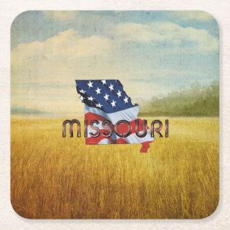 Porta-copo De Papel Quadrado Patriota de Missouri do T