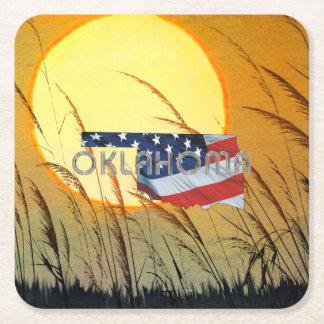 Porta-copo De Papel Quadrado Patriota de Oklahoma do T