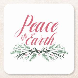 Porta-copo De Papel Quadrado Paz no grupo da porta copos da terra