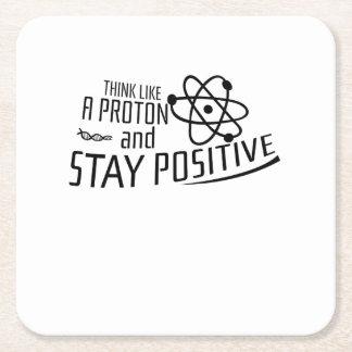 Porta-copo De Papel Quadrado Pense como um presente legal da ciência de Proton