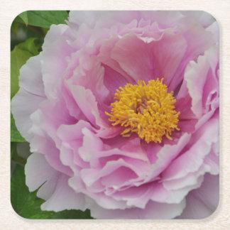Porta-copo De Papel Quadrado Peônia cor-de-rosa