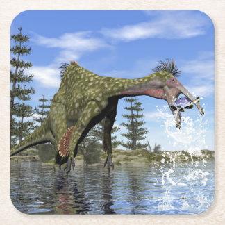 Porta-copo De Papel Quadrado Pesca do dinossauro do Deinocheirus - 3D rendem