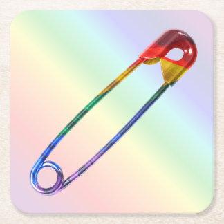 Porta-copo De Papel Quadrado Pin de segurança