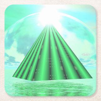 Porta-copo De Papel Quadrado Pirâmide Mystical - 3D rendem