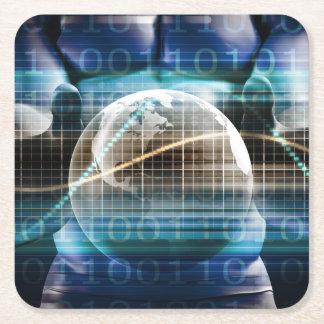 Porta-copo De Papel Quadrado Plataforma da segurança do controlo de acessos