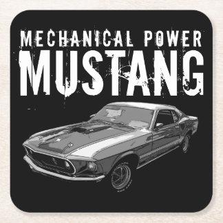 Porta-copo De Papel Quadrado Poder mecânico do mustang