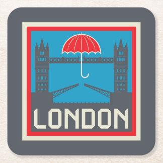 Porta-copo De Papel Quadrado Ponte de Londres com guarda-chuva