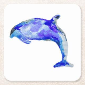 Porta-copo De Papel Quadrado Porta copos azul do golfinho