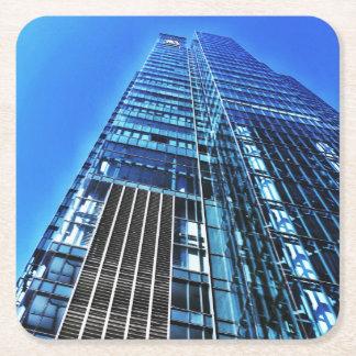Porta-copo De Papel Quadrado Porta copos azul do papel da construção industrial