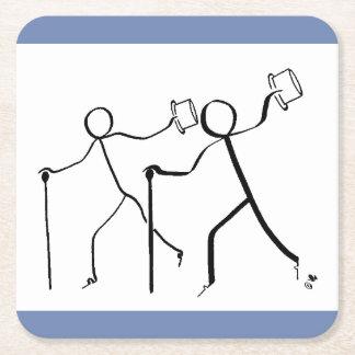 Porta-copo De Papel Quadrado Porta copos com os dois dançarinos de torneira