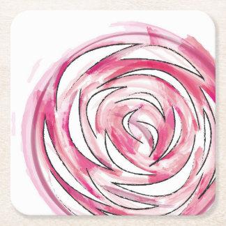 Porta-copo De Papel Quadrado Porta copos cor-de-rosa