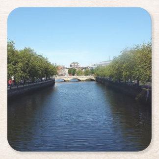 Porta-copo De Papel Quadrado Porta copos da ponte de Liffey do rio de Dublin