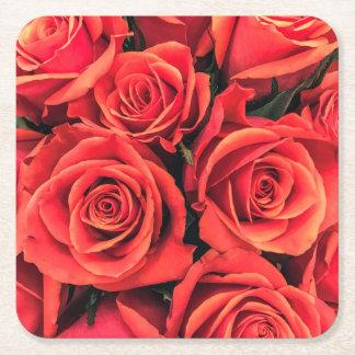 Porta-copo De Papel Quadrado Porta copos do conselho do bar dos rosas